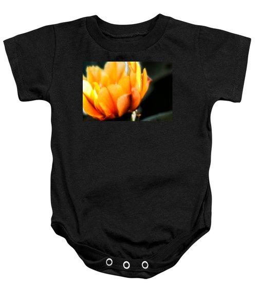 Prickly Pear Flower Baby Onesie by Lynn Geoffroy