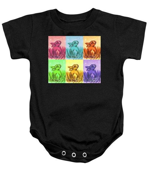 Primary Bunnies Baby Onesie