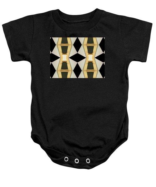 Primitive Graphic Structure Baby Onesie