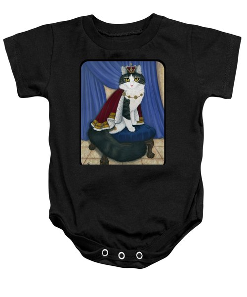Prince Anakin The Two Legged Cat - Regal Royal Cat Baby Onesie