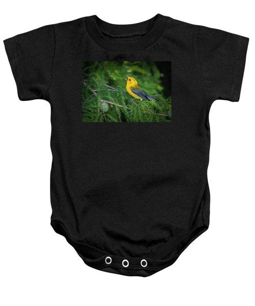 Prothonatory Warbler 9809 Baby Onesie