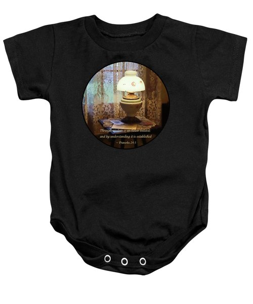 Proverbs 24 3 Through Wisdom Is An House Builded Baby Onesie