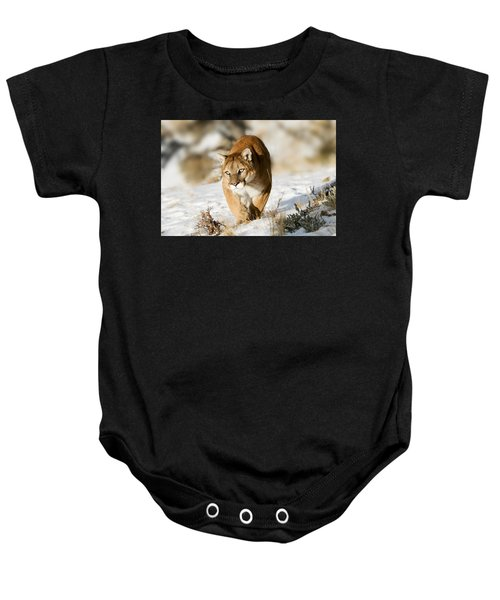 Prowling Mountain Lion Baby Onesie