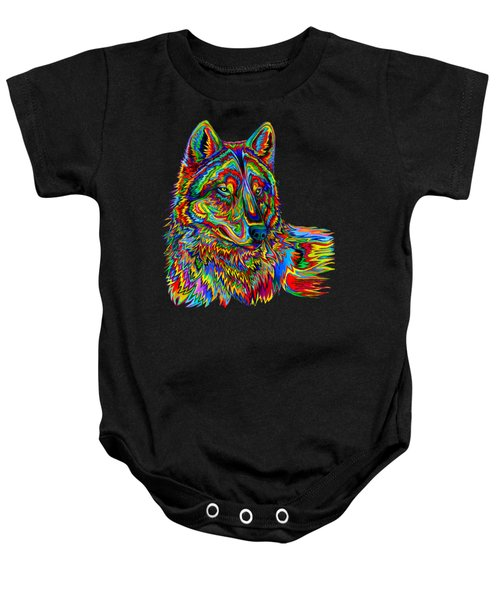 Psychedelic Wolf Baby Onesie