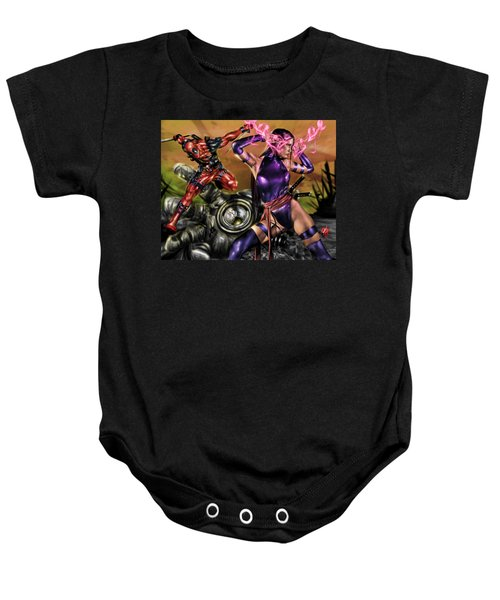 Psylocke And Deadpool Baby Onesie