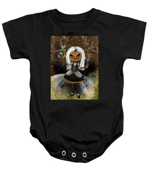 Pumpkin Spice Latte Monster Fantasy Art Baby Onesie