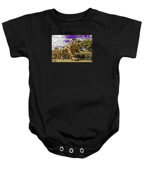 Purple And Gold Baby Onesie