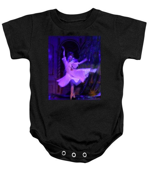 Purple Ballet Dancer Baby Onesie