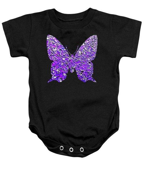 Purple Butterfly  Baby Onesie