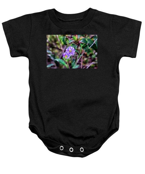 Purple Flower Family Baby Onesie