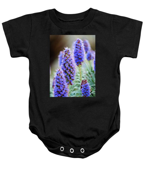 Baby Onesie featuring the photograph Purple Flowers by Renee Hong