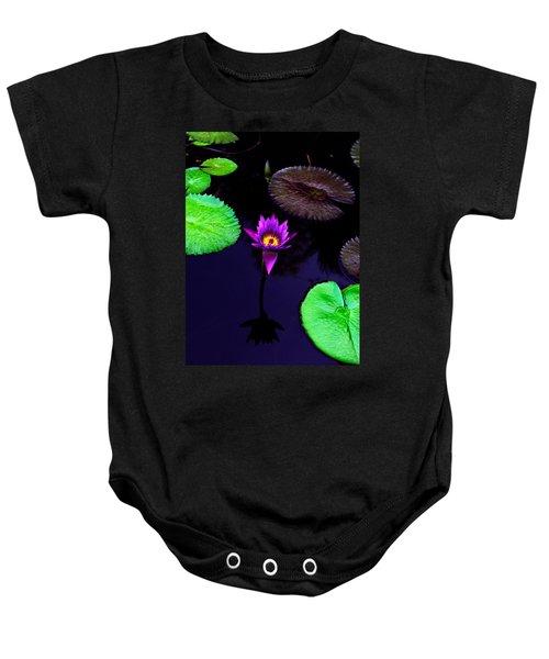 Purple Lily Baby Onesie