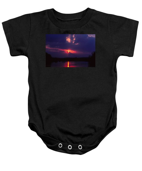 Purple Sunset Baby Onesie