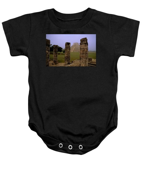 Pyramid At Chichen Itza Baby Onesie