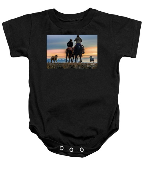 Racing To The Sun Wild West Photography Art By Kaylyn Franks Baby Onesie