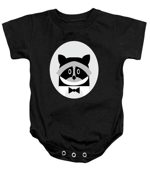 Racoon Bw Baby Onesie