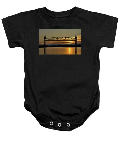 Railroad Bridge Over The Canal Baby Onesie