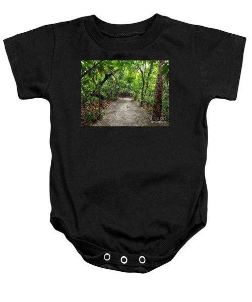 Rain Forest Road Baby Onesie