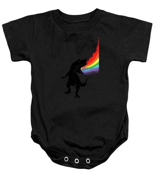 Rainbow Dinosaur Baby Onesie