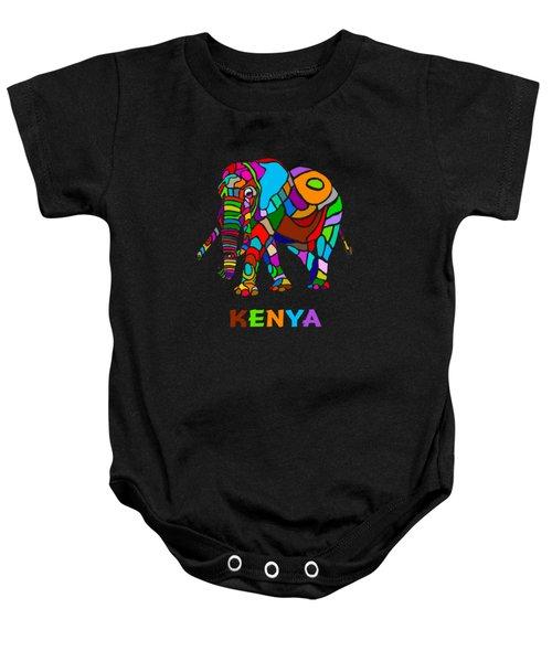 Rainbow Elephant Baby Onesie