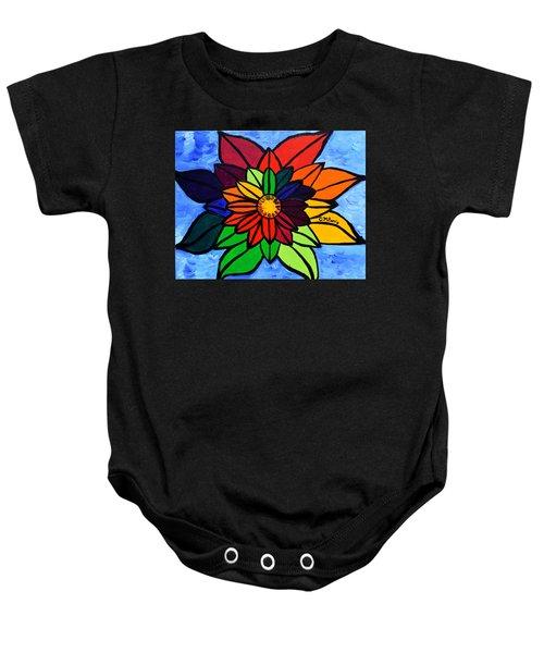 Rainbow Lotus Flower Baby Onesie