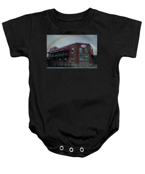 Rainbow Over Genesee Beer Baby Onesie