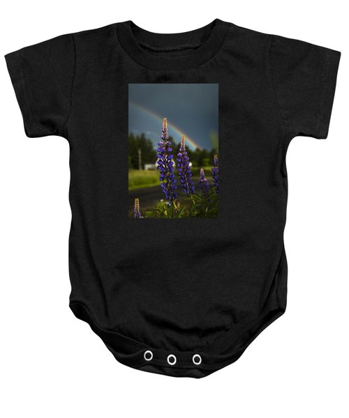 Rainbow Over Lupine  Baby Onesie