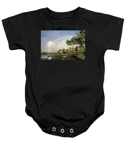 Rainbow Over The Beach Baby Onesie