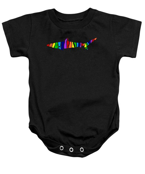 Rainbow Shark Baby Onesie