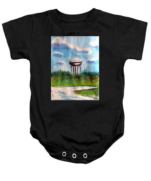 Raines Road Watertower Baby Onesie