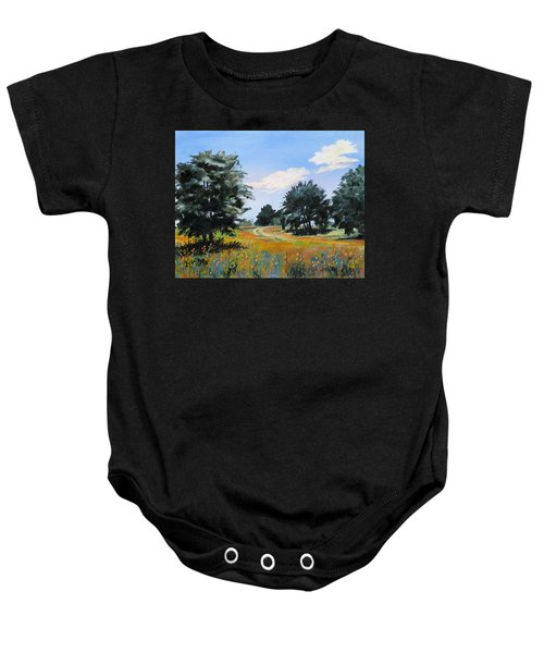 Ranch Road Near Bandera Texas Baby Onesie