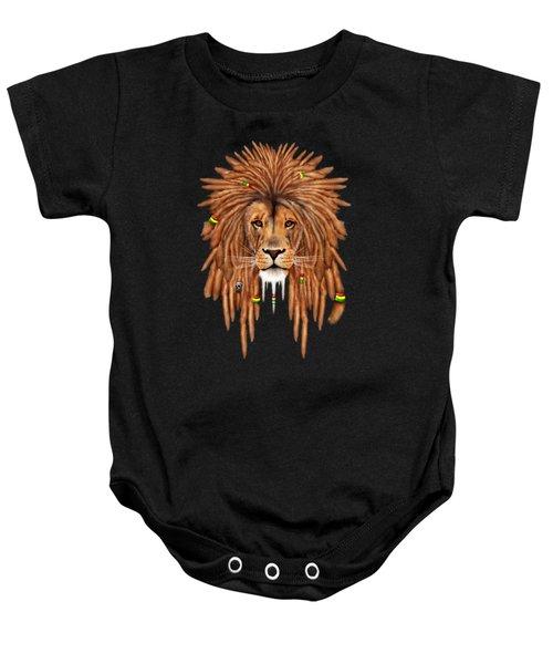 Rasta Lion Dreadlock Baby Onesie