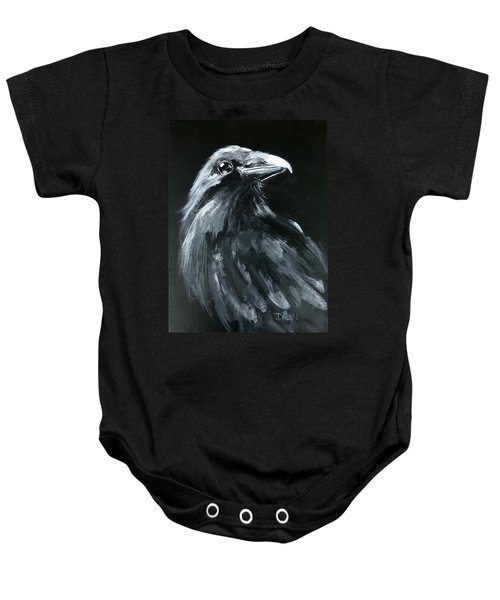 Raven Looking Right Baby Onesie