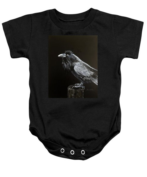 Raven On Post Baby Onesie