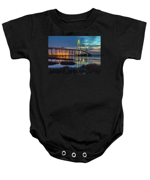 Ravenel Bridge Reflection Baby Onesie