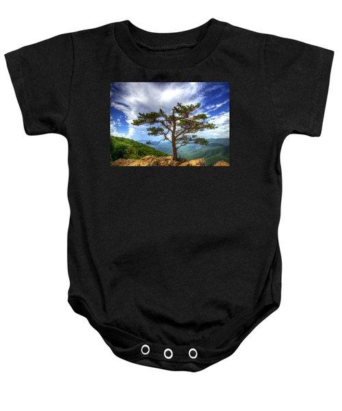 Ravens Roost Tree Baby Onesie
