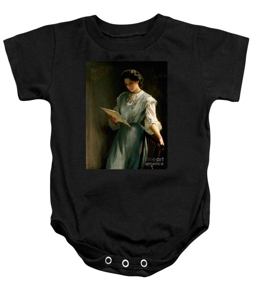 Reading The Letter  Baby Onesie