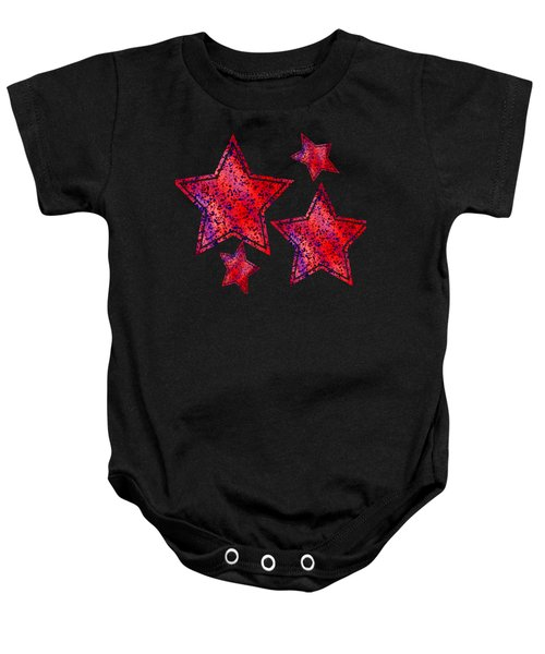 Red And Blue Splatter Abstract Baby Onesie