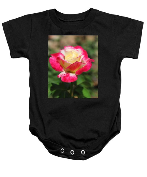 Red And Yellow Rose Baby Onesie