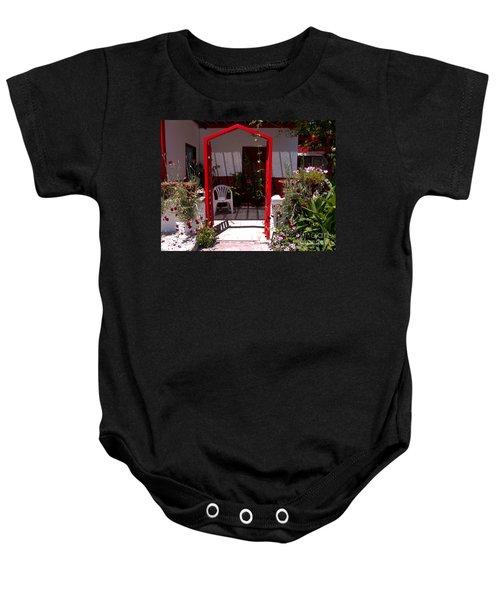 Red Arch On Lesvos Baby Onesie