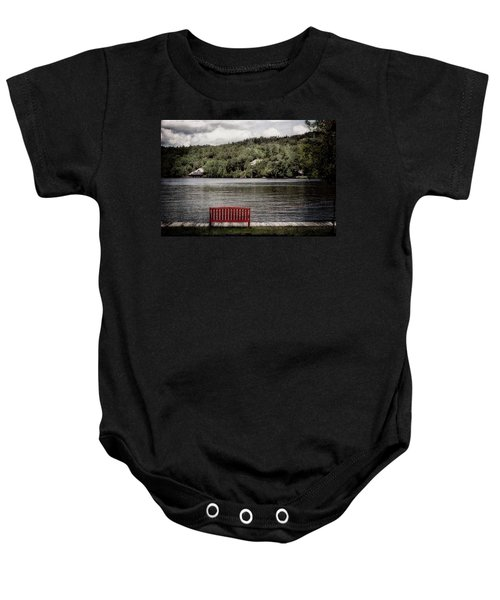 Red Bench Baby Onesie