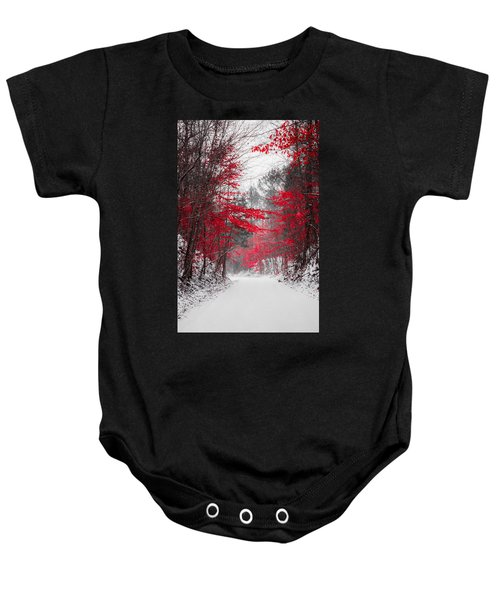 Red Blossoms  Baby Onesie