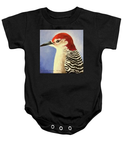 Red Breasted Woodpecker Two Baby Onesie