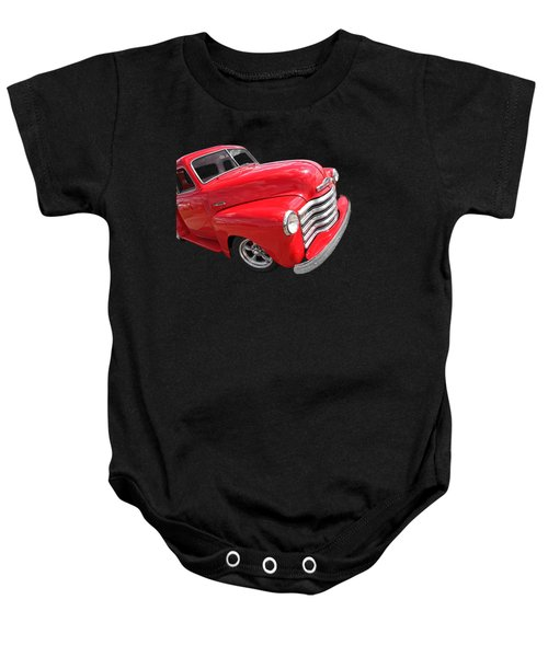 Red Chevy Pickup Baby Onesie