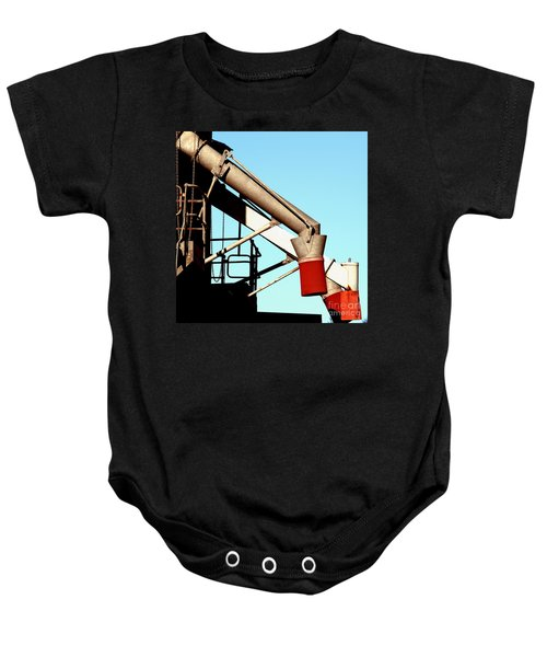 Baby Onesie featuring the photograph Red Chutes by Stephen Mitchell