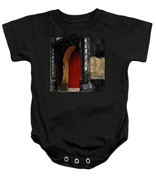 Red Doorway Baby Onesie