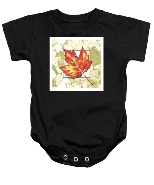 Red Fall Baby Onesie
