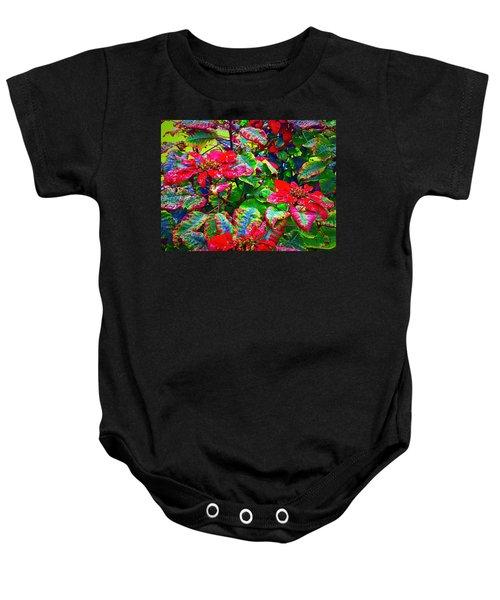 Red Hawaiian Poinsettias In Puna Baby Onesie