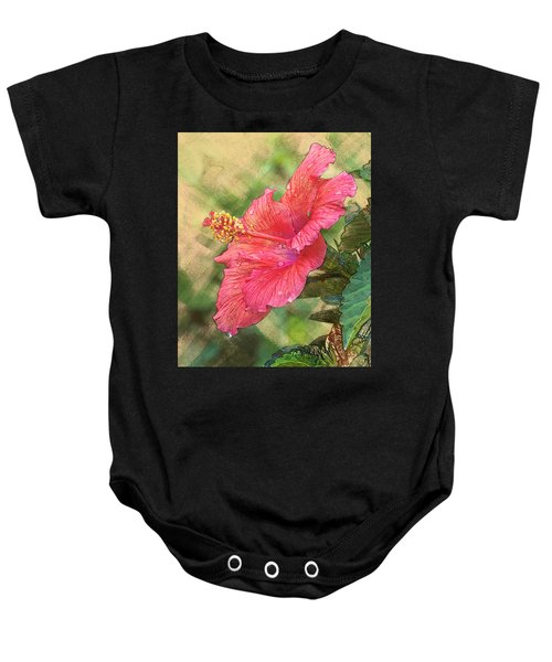 Red Hibiscus Baby Onesie