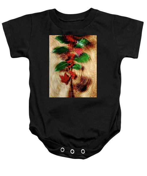 Red Holly Spinning Baby Onesie